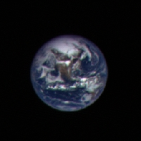Image of the Earth taken by the Hayabusa spacecraft.